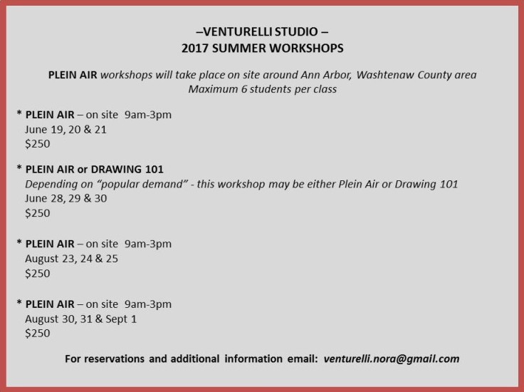 Summer 2017 Plein Air Workshops